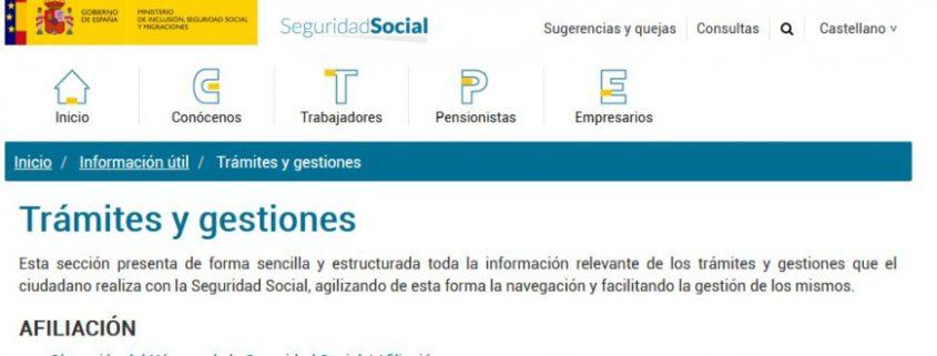 Portal Electrónico Seguridad Social